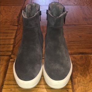 Frye Women's Gia Lug Shearling Sneaker